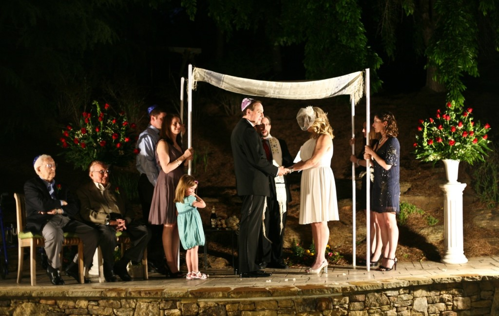 Outdoor Jewish wedding ceremony in Atlanta