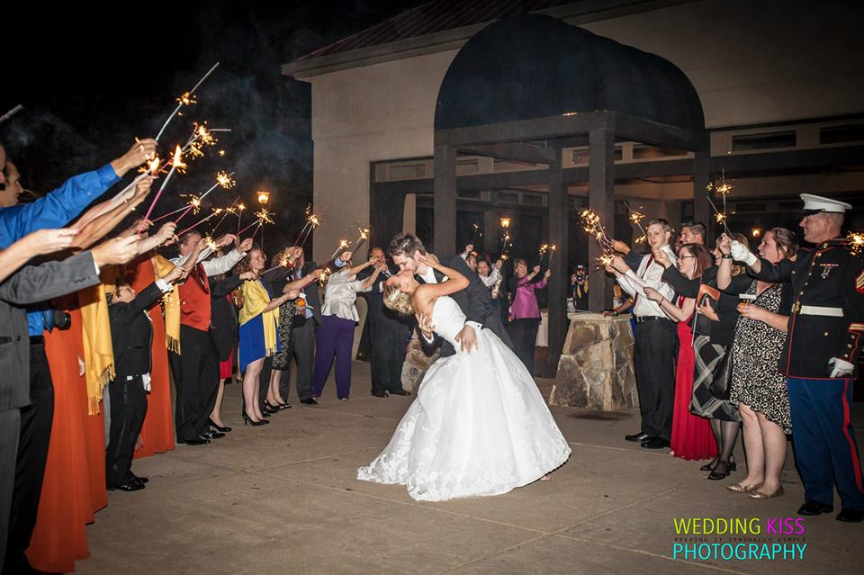 Bride and Groom sparkler exit at Lake Lanier Islands Weddings