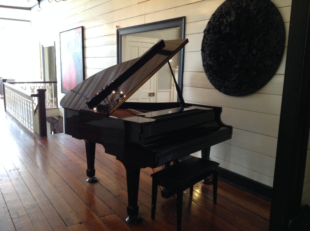Beautiful grand piano  at wedding venue 3109 Piedmont Estates and Gardens in Atlanta The Estate