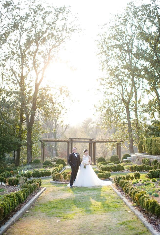 Outdoor Atlanta wedding at Callanwolde Gardens Fine Arts Center