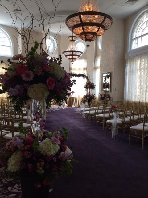Wedding Ceremony ballroom decorated by A Very Special Wedding at Atlanta venue The Georgian Terrace