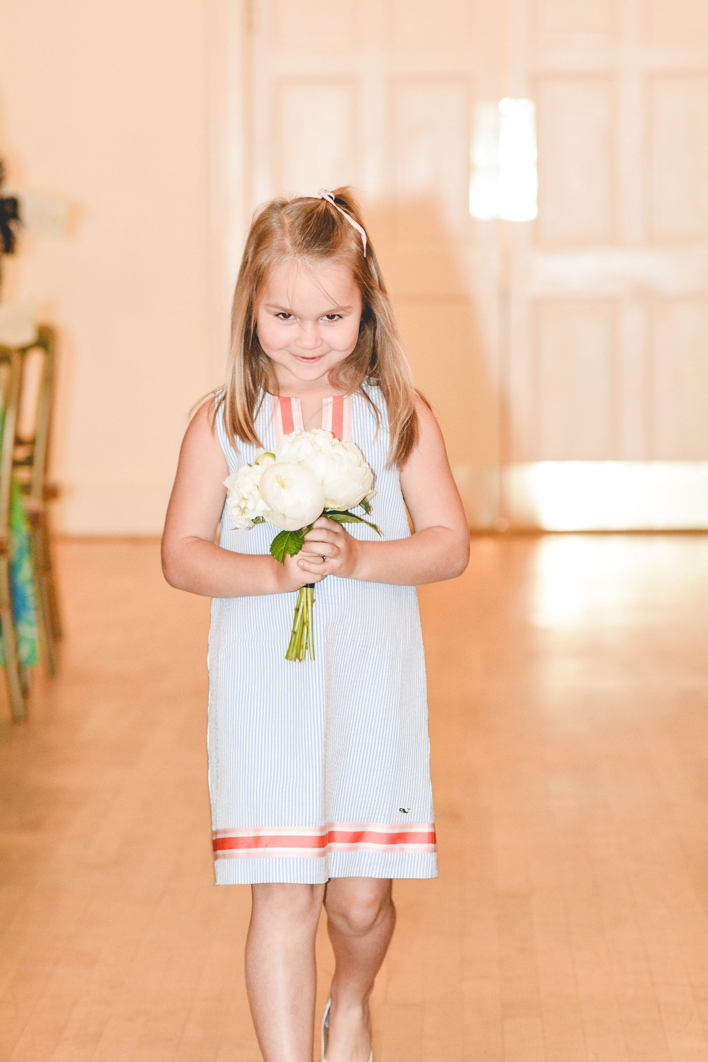 Atlanta wedding ceremony flower girl