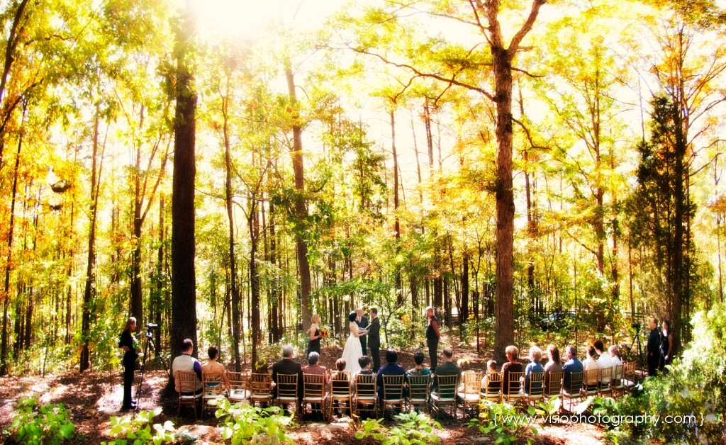 Outdoor fall wedding in Alpharetta, GA