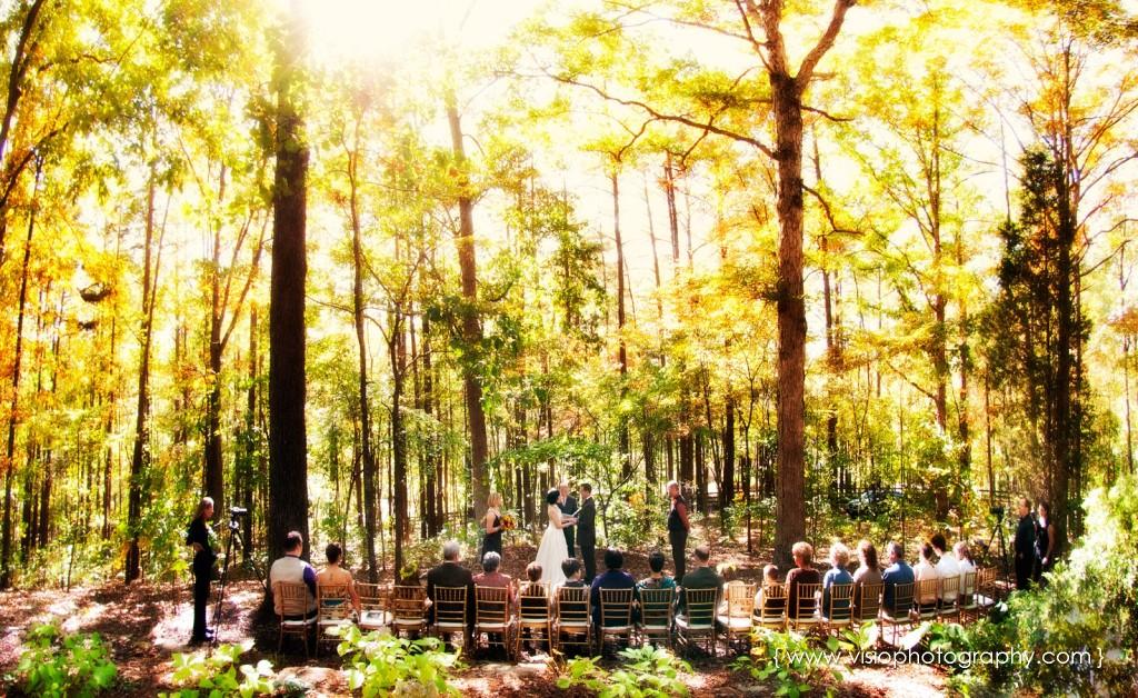Outdoor fall wedding in Alpharetta, GA