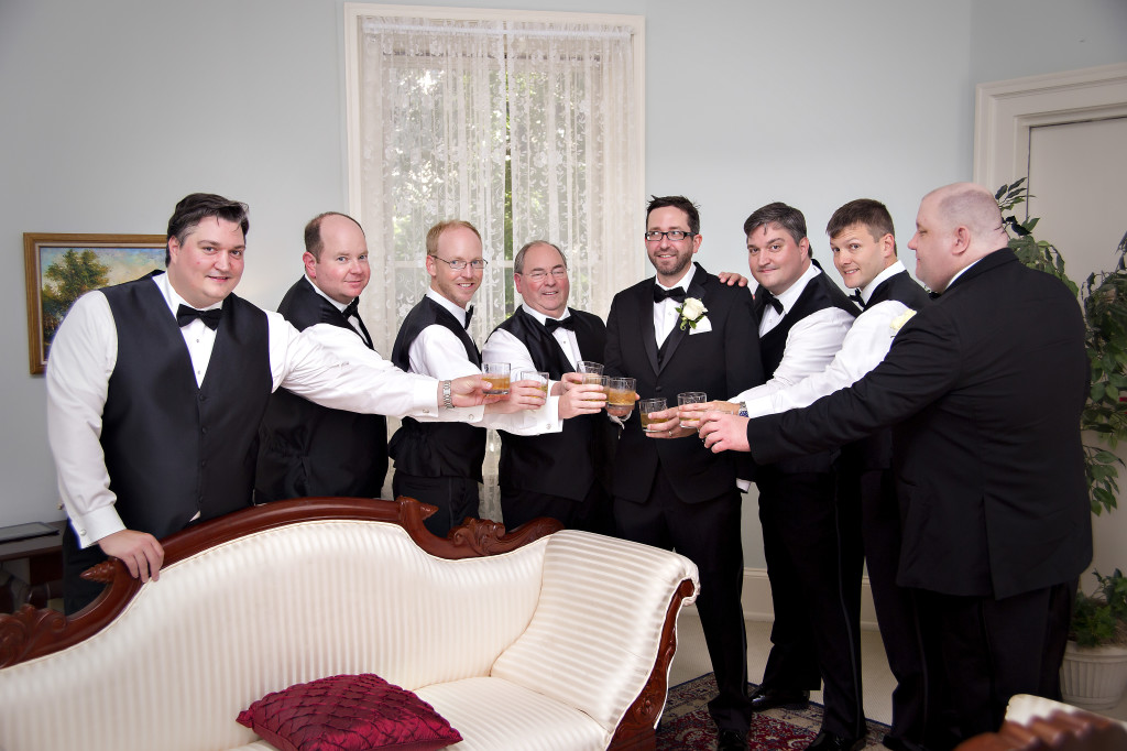 Groomsmen at Wimbish House wedding