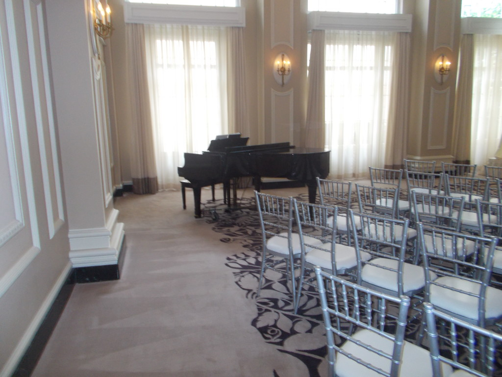 Beautiful Live Piano Music for wedding ceremony and cocktail hour at Georgian Terrace in Atlanta