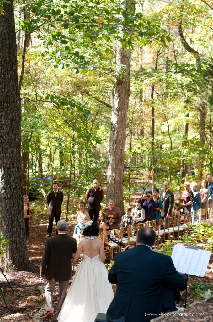 Outdoor fall wedding in Alpharetta
