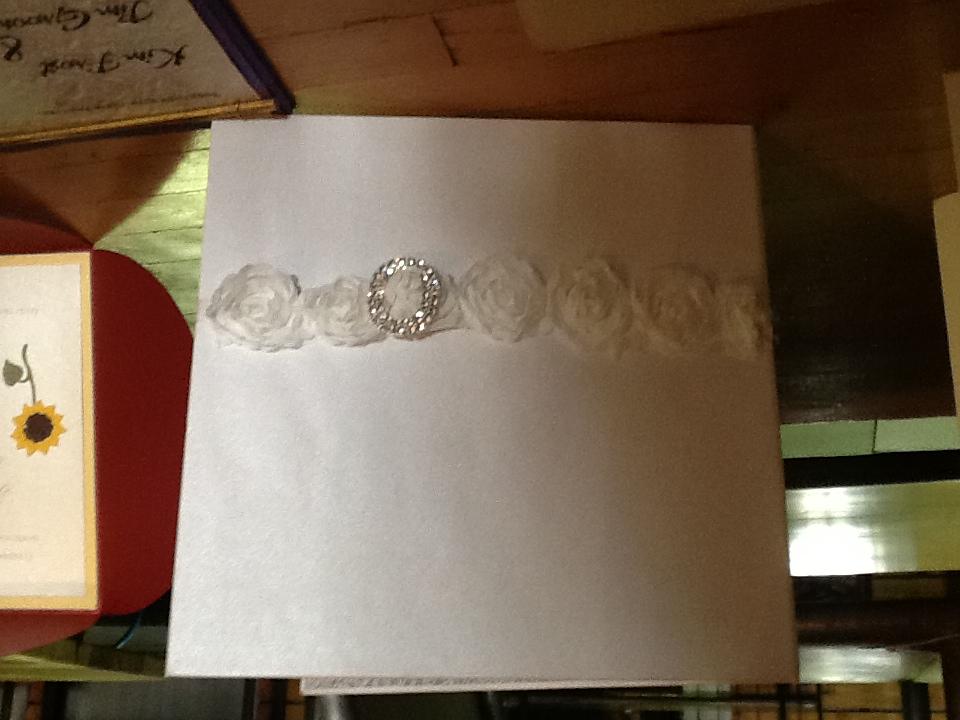 White wedding invitation by Confetti