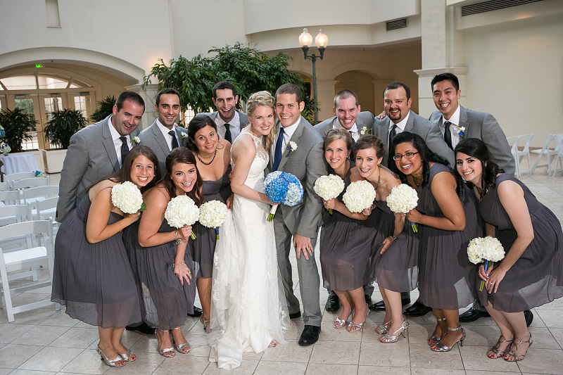 Photos of Bridal Party after wedding ceremony at Chateau Elan Winery and Resort