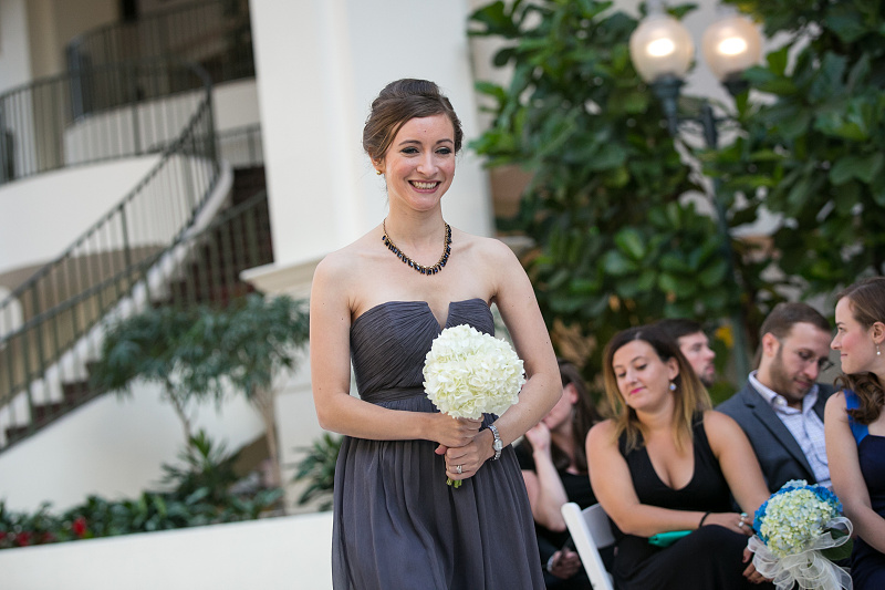 Wedding picture of bridesmaid at Chateau Elan Winery and Resort