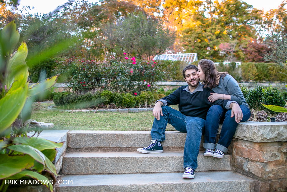 Engagement Photos at Callanwolde Gardens in Atlanta