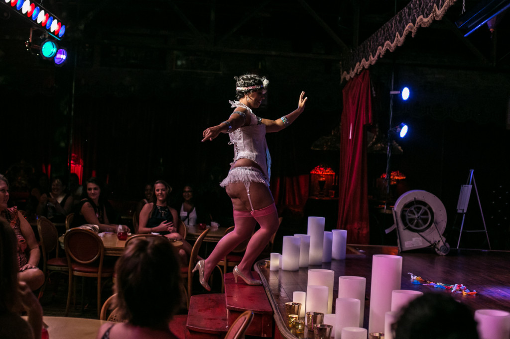 Burlesque dancer wedding entertainment in Atlanta