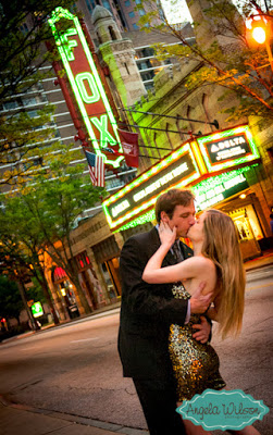 Engagement Photo Spots -- The Fox Theater in Atlanta