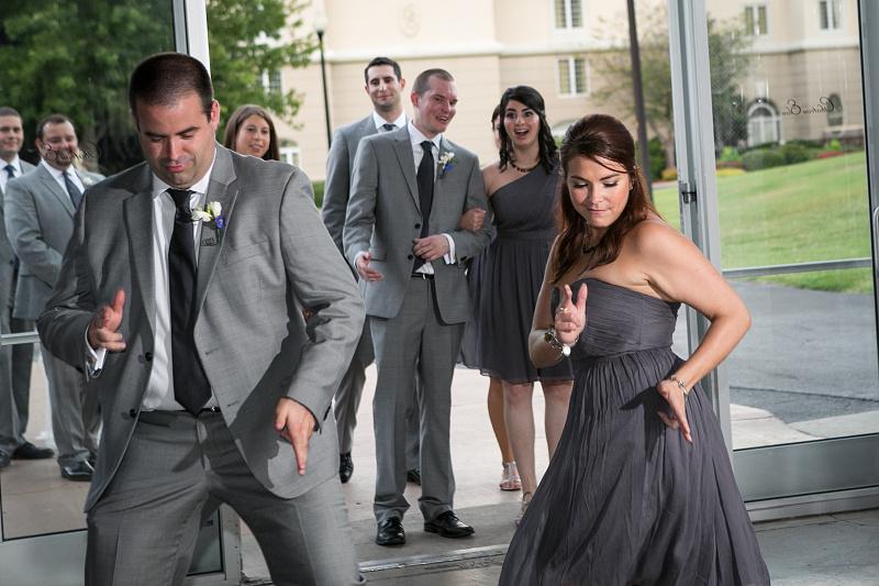 Bridal Party entrance at wedding reception at Chateau Elan