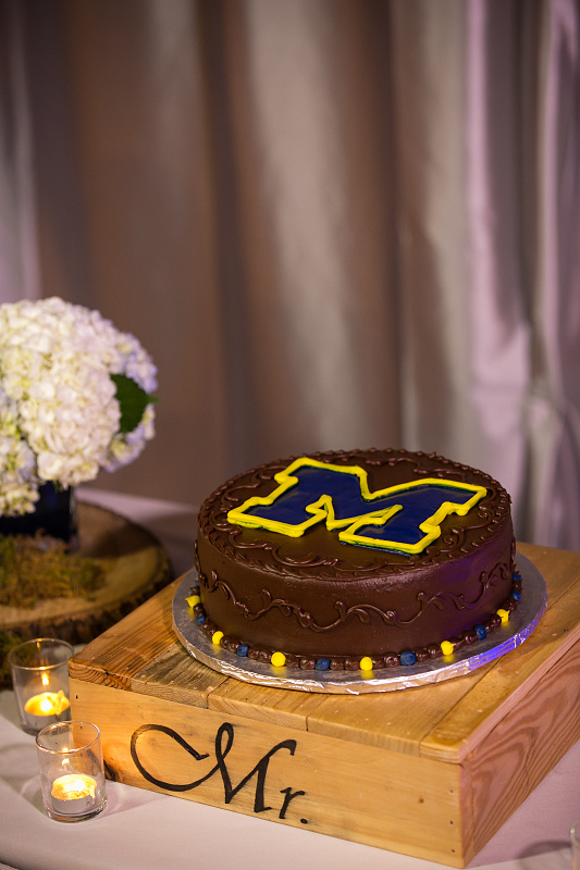 Groom cake with college logo