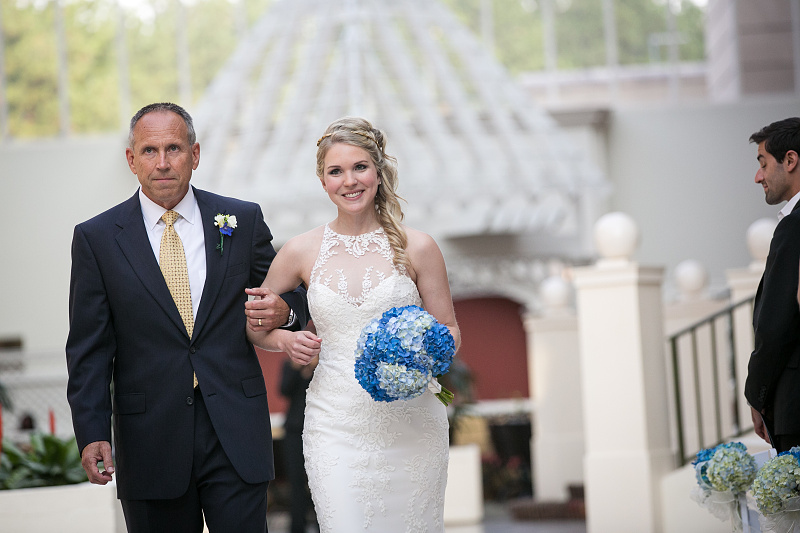 Bridal entrance photo wedding ceremony at Chateau Elan Winery and Resort