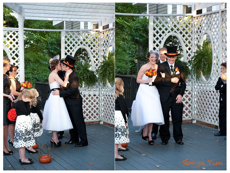 Halloween fall wedding in Atlanta