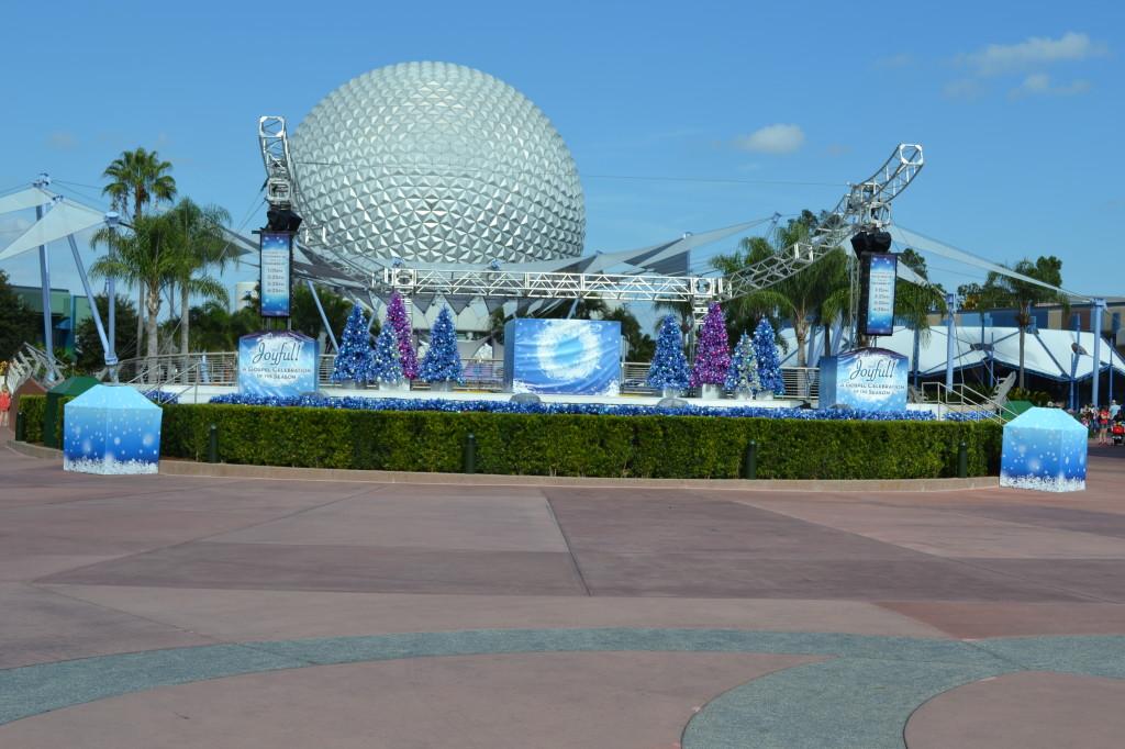 Epcot at Disney World at Christmas