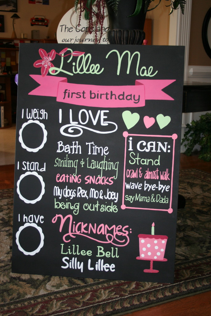 Four Little Bubbles Birthday Sign