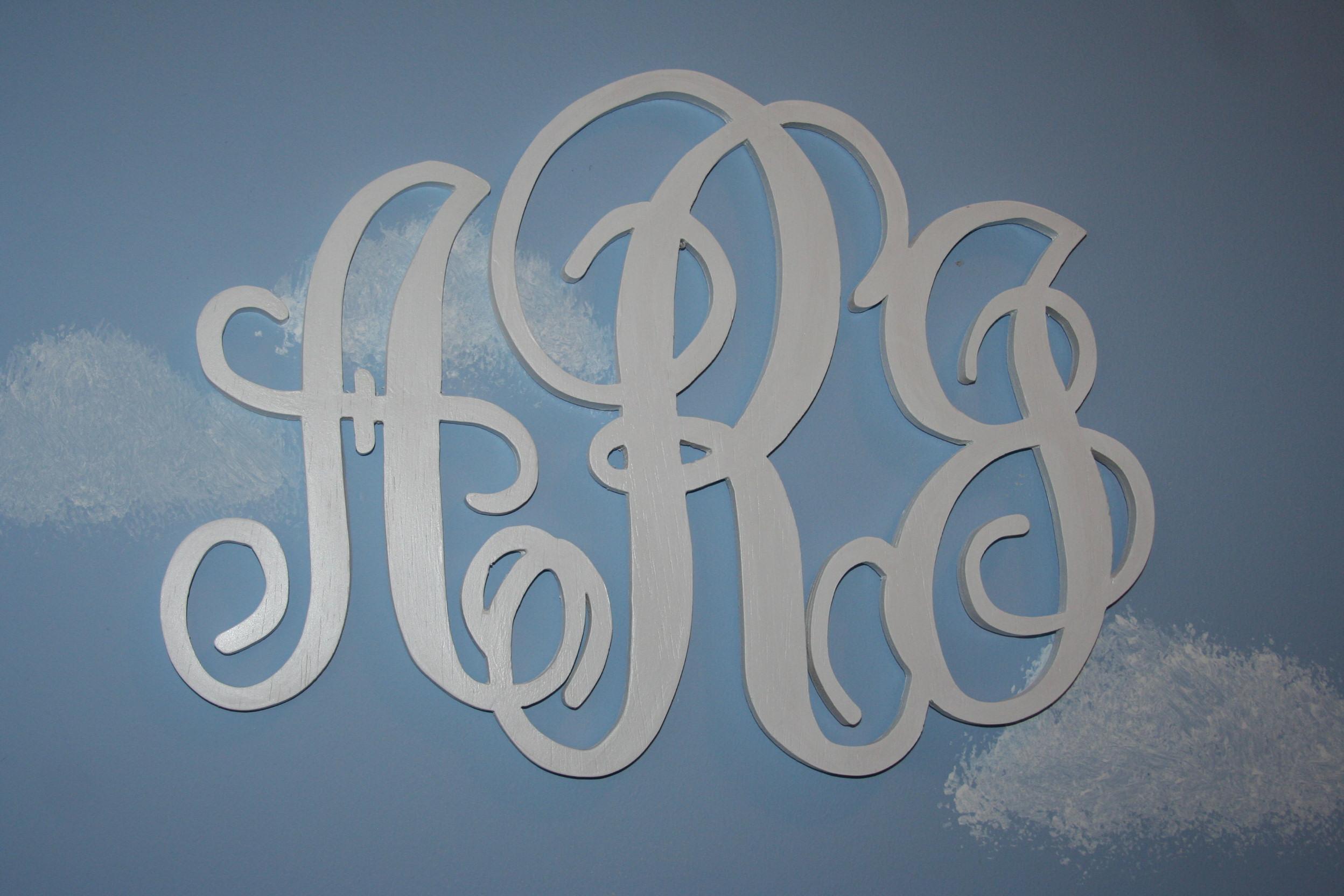 Four Little Bubbles Monogram