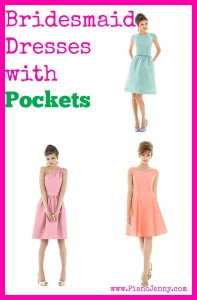 Bridesmaid dresses with pockets