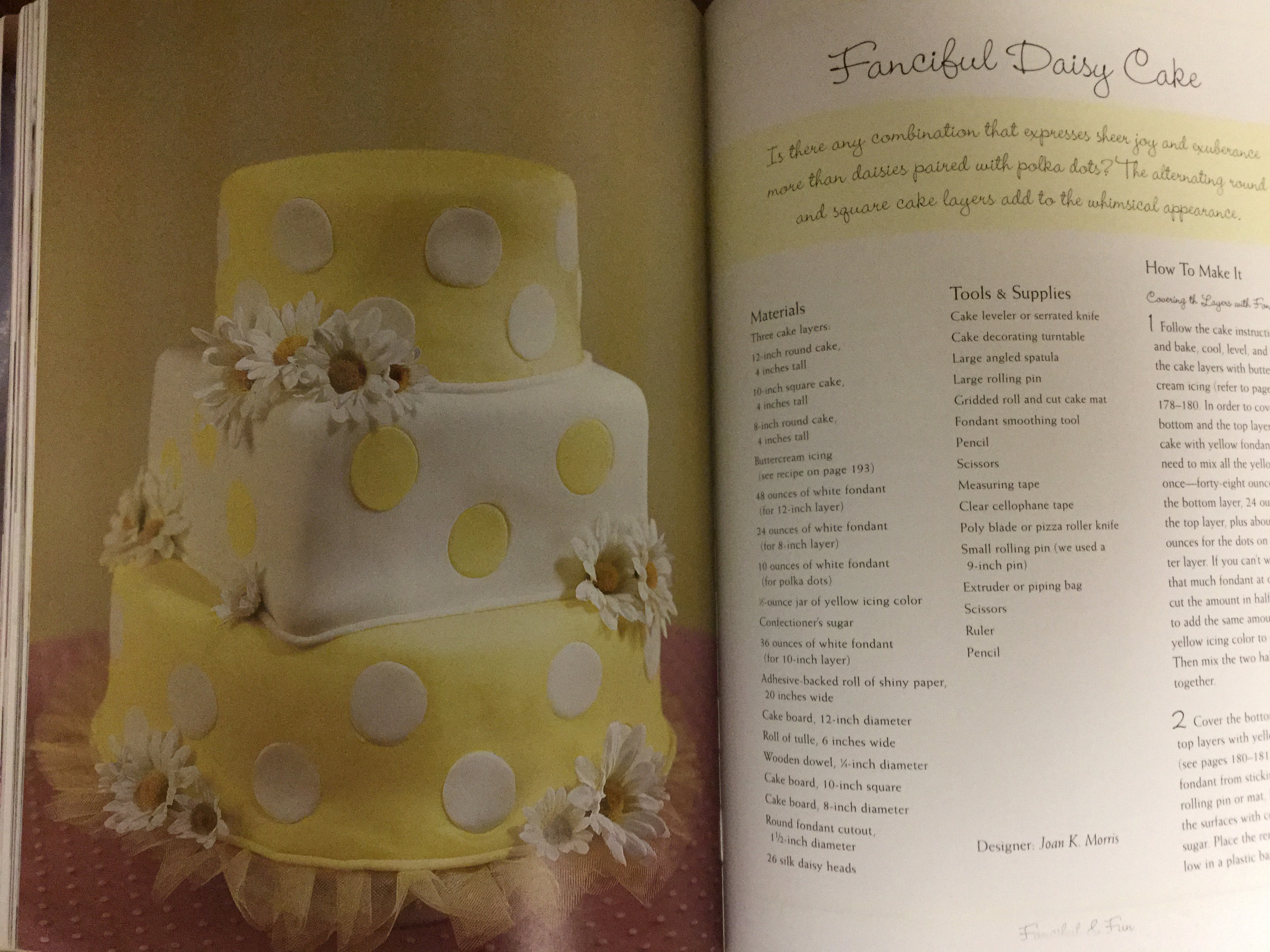 DIY Bride on a Budget Fanciful Daisy Cake