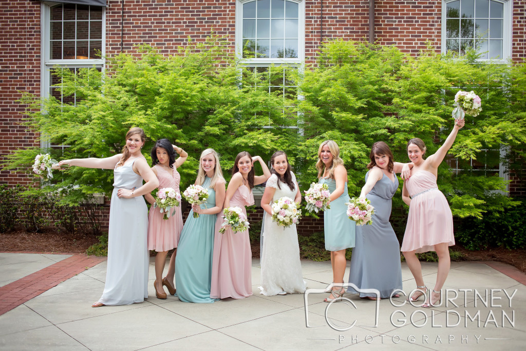 Bridesmaids at Atlanta wedding that Jennifer Blaske, Atlanta Wedding Pianist played for