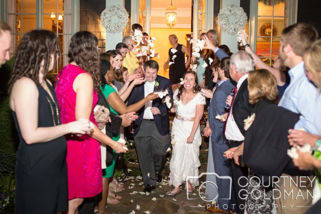 Bride and Groom exit at Atlanta Wedding