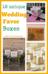Gold, white, and vintage Wedding Favor Boxes