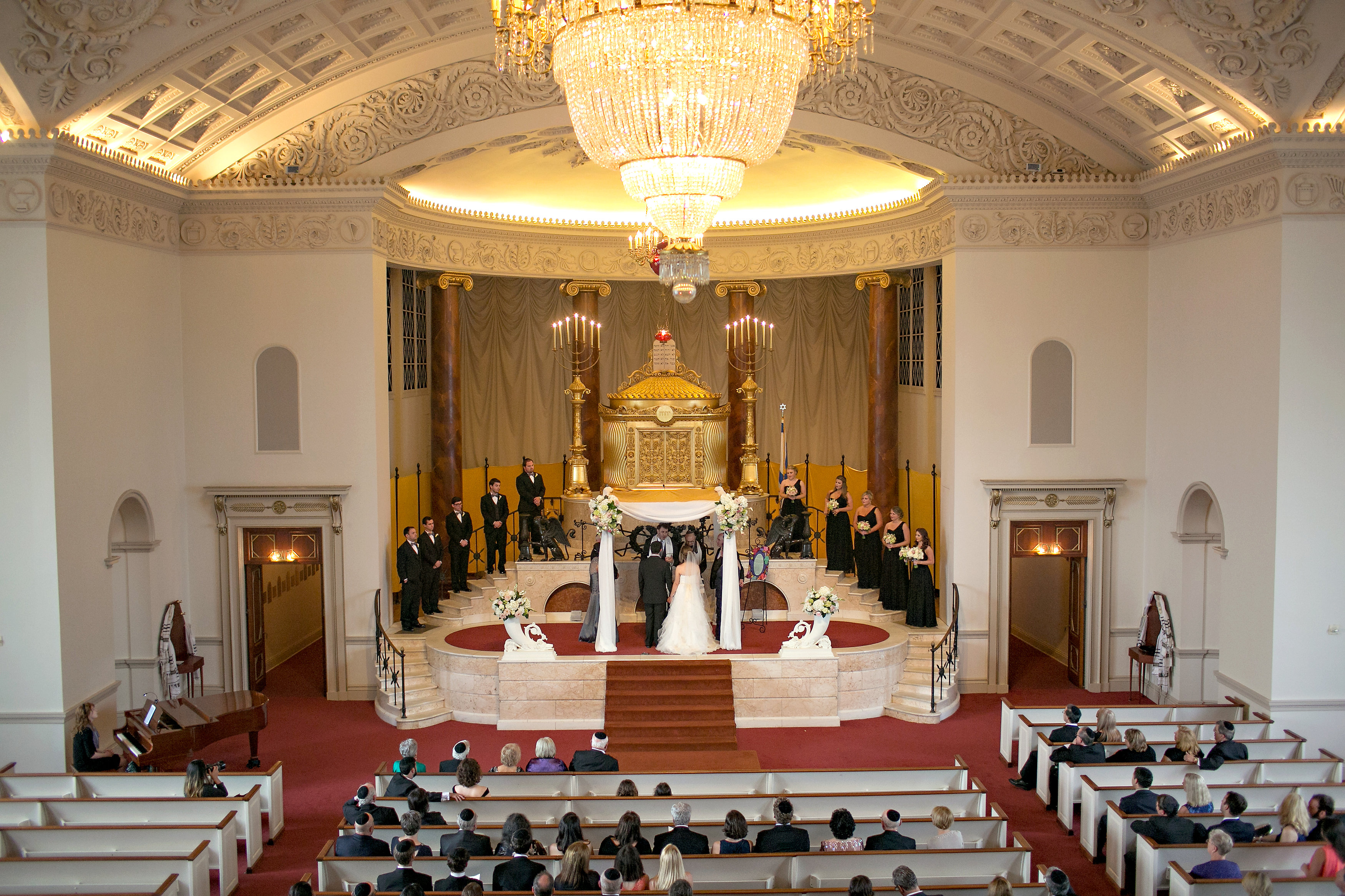 Jewish Wedding Ceremony at The Temple in midtown Atlanta