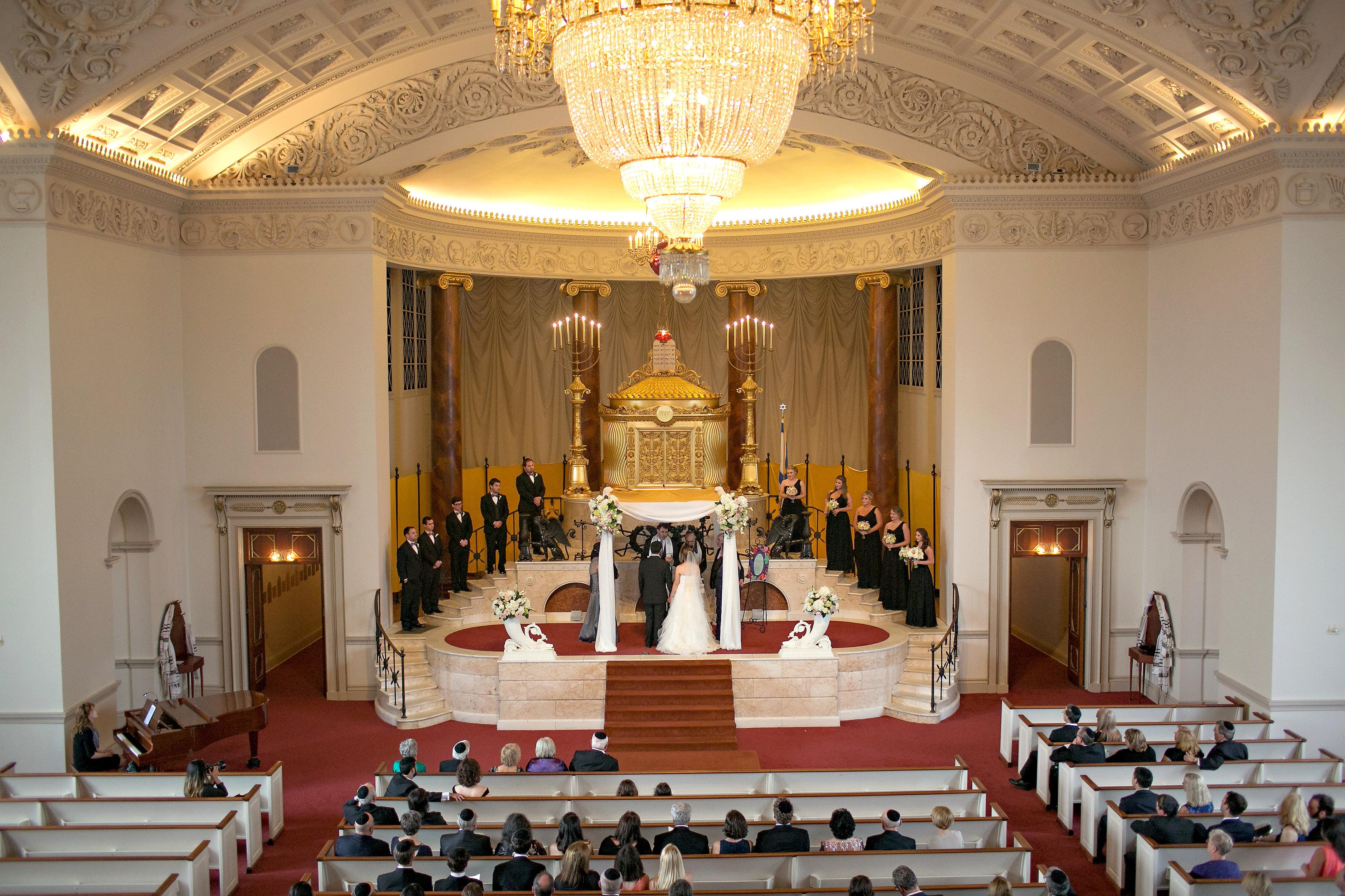 Jewish Wedding Ceremony at The Temple in midtown Atlanta