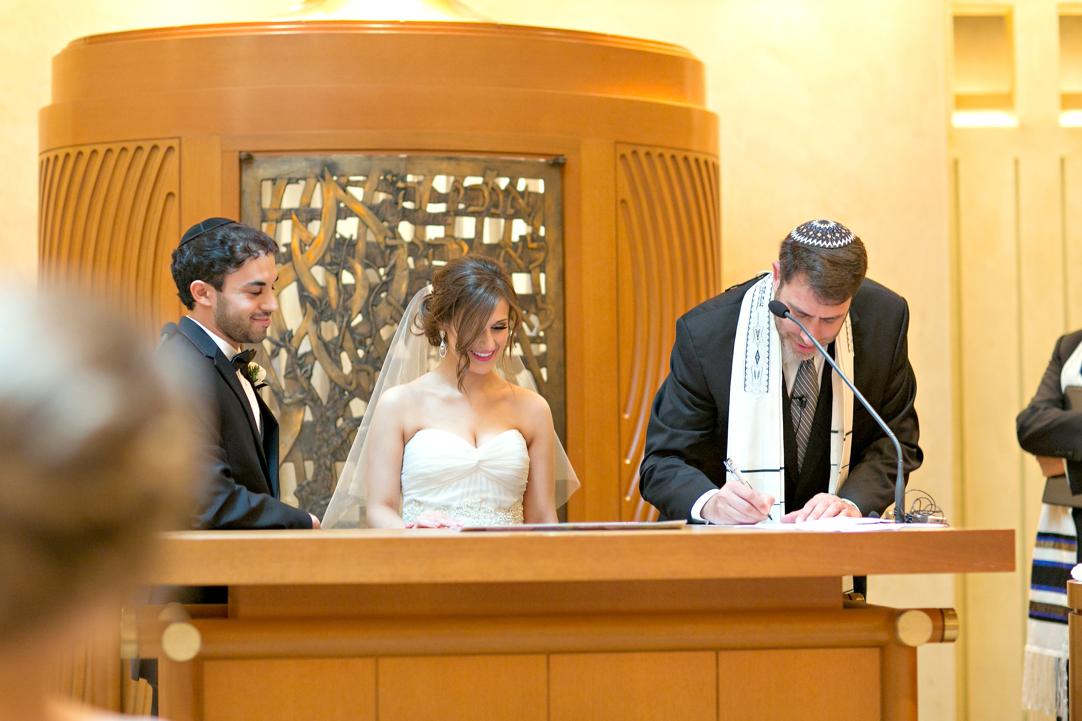 Jewish tradition of Signing Ketubah at wedding The Temple in Atlanta