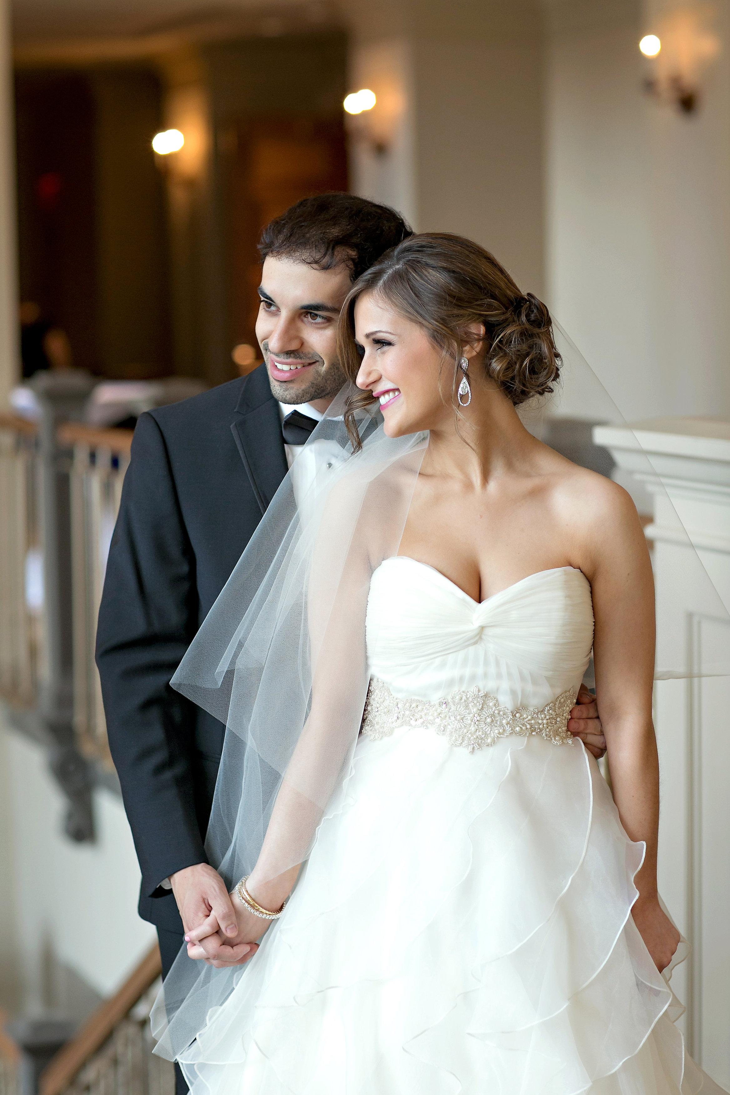 The Temple Atlanta Wedding ceremony bride and groom