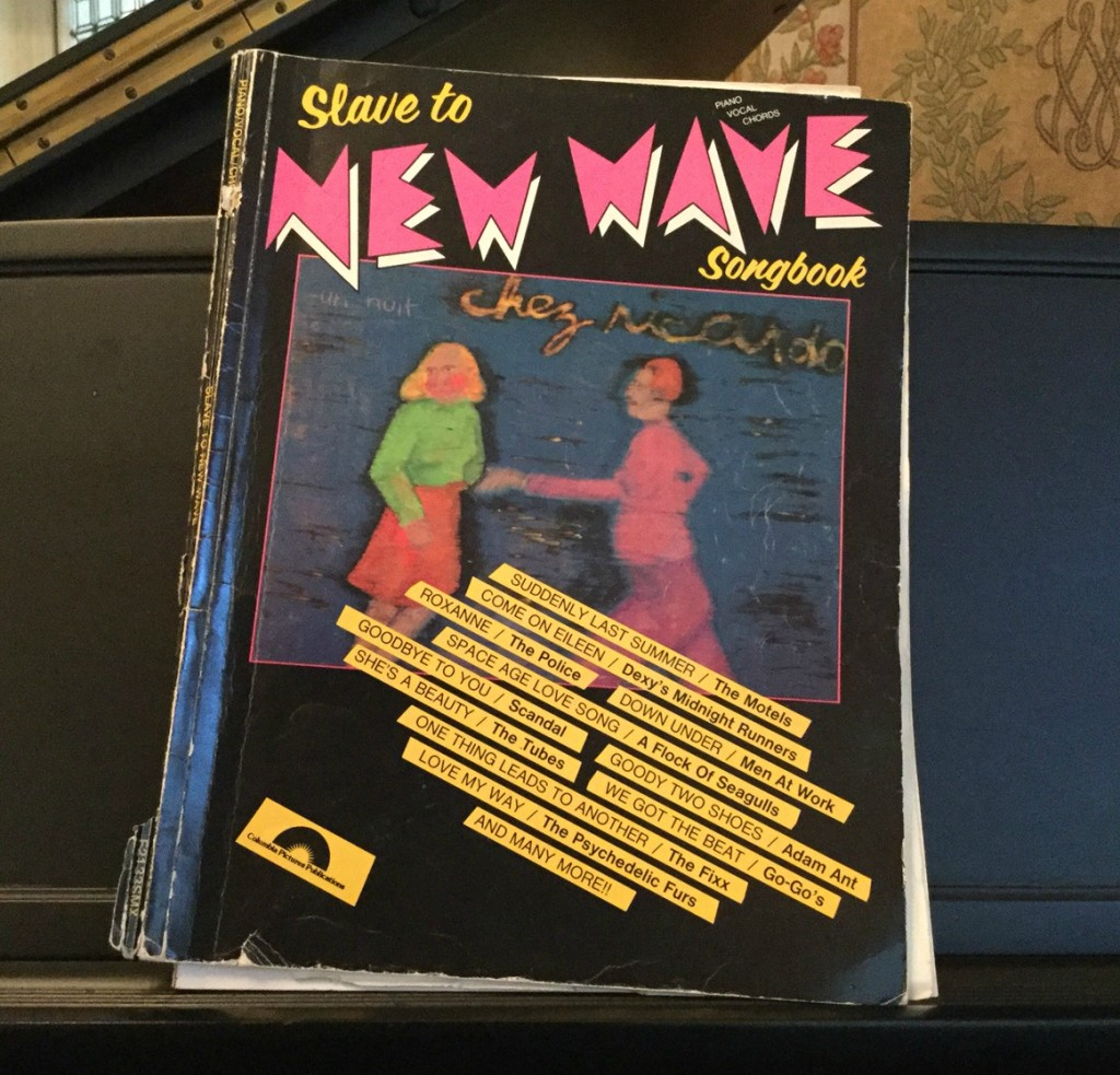 Slave to New Wave Piano music book with 80s songs