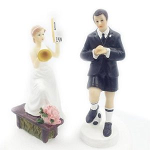 Football Soccer wedding cake topper