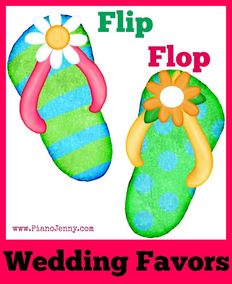 Flip Flop Favors For Beach Weddings Jennifer Mccoy Blaske