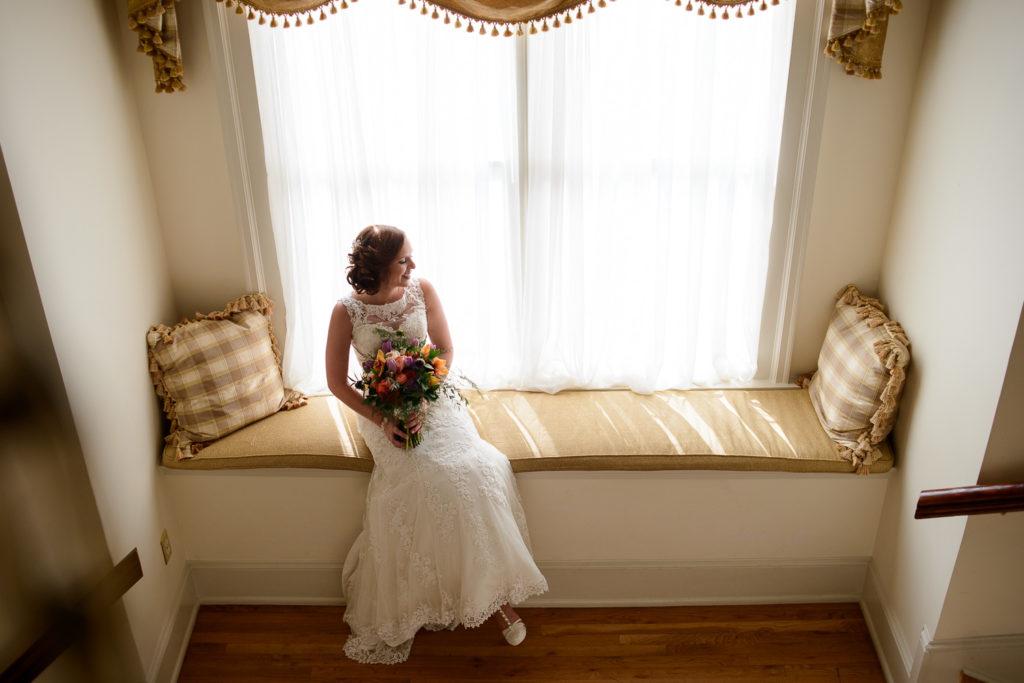 bride before wedding ceremony at Wimbish House in Atlanta
