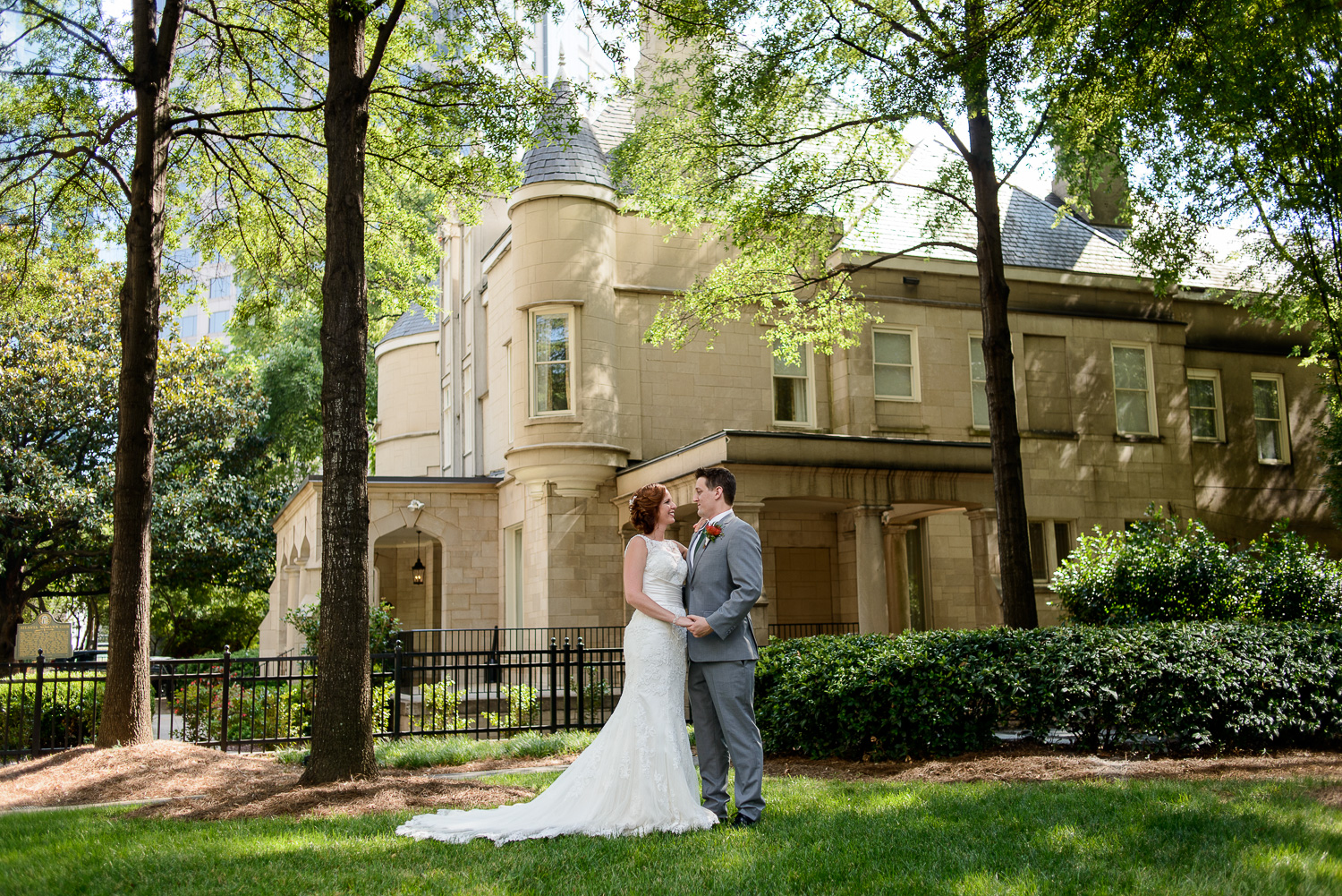 Wedding ceremony and cocktail hour Wimbish House Atlanta