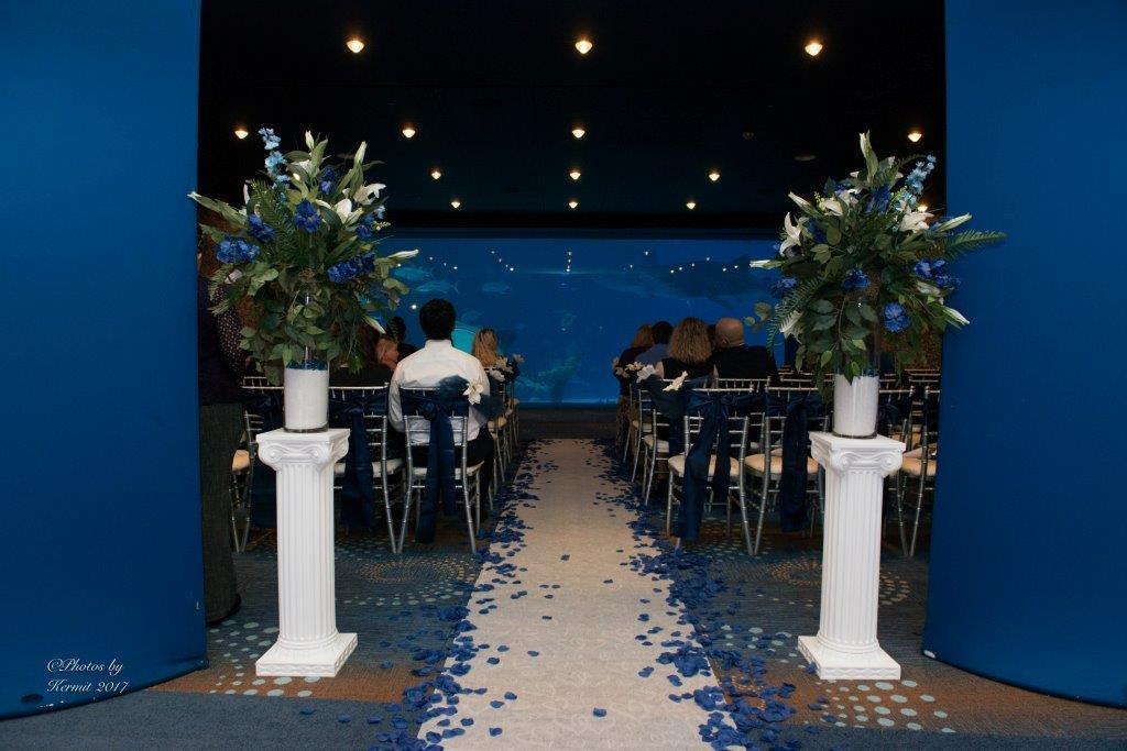 Georgia Aquarium wedding ceremony