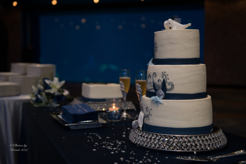 Wedding Cake Pêche Petite Boutique Bakery at Georgia Aquarium in Atlanta
